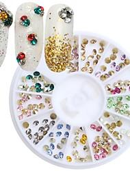 1pcs  Nail Jewelry 3mm Round 12-Color Acrylic Bottom Sharp Drill