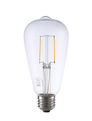 2W E26 LED лампы накаливания ST21 2 COB 220 lm Тёплый белый Регулируемая / Декоративная AC 110-130 V 1 шт.
