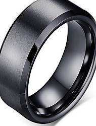 Ring Tungsten Steel Simple Style Fashion Black Silver Golden Jewelry Party 1pc