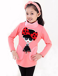 Girls Fashionable Han Edition Cotton  Long Sleeve Long T-shirt render unlined upper garment