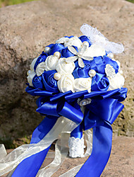 Royal Blue and White Conch Starfish  Ocean Theme Wedding Flower Party Decoration