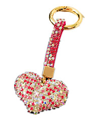 Key Chain Leisure Hobby Key Chain / Diamond / Gleam Heart-Shaped Metal Pink For Boys / For Girls
