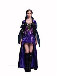 Reine Conte de Fée Fête / Célébration Déguisement d'Halloween Violet Dentelle Couleur Pleine RobeHalloween Noël Carnaval Le Jour des
