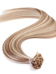 Neitsi 16'' 25g Remy Human Hair Extensions Straight Pre bonded U Nail Tip Hair  AAAAA Quality P14/24#
