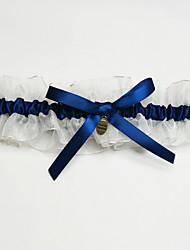 Garter Organza Bowknot Blue