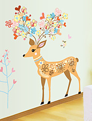 Animals Christmas Wall Stickers Plane Wall Stickers Decorative Wall Stickers Material Removable Home Decoration Wall Decal