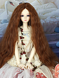 40cm Long Kinky Curly Medium Auburn Color Hair 1/3 1/4 BJD SD DZ Doll Wig Accessories Not for Human Adult