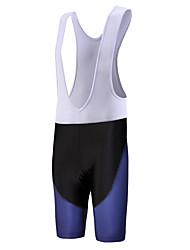 QKI Sapphire Blue Cycling Bib Shorts Mens /Quick Dry / Anatomic Design  / 5D Coolmax Gel Pad