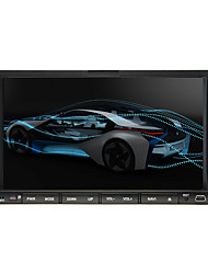 "2 din 7 ""tela de toque LCD DVD player do carro in-dash com bluetooth, rds, ipod-entrada, rádio estéreo, atv"