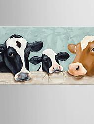 Ручная роспись Абстракция / Животное Картины маслом,Modern / Классика 1 панель Холст Hang-роспись маслом For Украшение дома