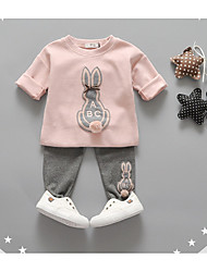 Girl Casual/Daily Animal Print Sets,Cotton Winter / Spring / Fall Clothing Set