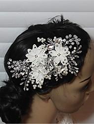 Mulheres Strass Crostal Imitação de Pérola Capacete-Casamento Ocasião Especial Clip para o Cabelo 1 Peça