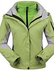 Trilha Blusas Mulheres Mantenha Quente / A Prova de Vento / Isolado / Confortável / Grossa Primavera / Outono / Inverno TeryleneAmarelo /