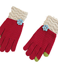 Warm-Fingered Multi-Function Touch-Screen Gloves (Red)