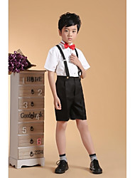 Cotton Ring Bearer Suit - Four-piece Suit Pieces Includes  Shirt / Vest / Pants / Bow Tie