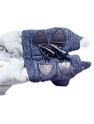 Cat / Dog Coat Blue Dog Clothes Winter Solid Cute
