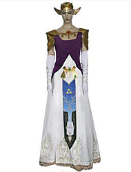 Inspirado por The Legend of Zelda Alice Anime Fantasias de Cosplay Ternos de Cosplay Estampado / Patchwork Branco / Púrpura Sem Mangas