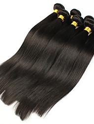 Tissages de cheveux humains Cheveux Brésiliens Droit 12 mois 5 Pièces tissages de cheveux