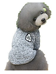 Dog Sweater Blue / Gray Dog Clothes Spring/Fall Solid Keep Warm