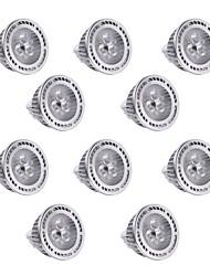 3W GU5.3(MR16) Focos LED MR16 3 SMD 3030 300 lm Blanco Cálido / Blanco Fresco Regulable / Decorativa DC 12 / AC 12 V 10 piezas