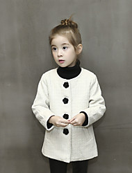 Girl Casual/Daily Solid Down & Cotton Padded,Cotton Long Sleeve