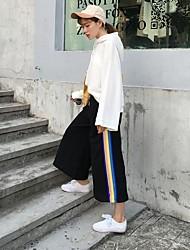 signer 2016 Hitz coutures bande noire femelle pantalons jambes larges avec un pantalon taille élastique