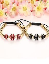 Women's Strand Bracelet Stainless Steel Simulated Diamond Steel Fashion Jewelry 1pc