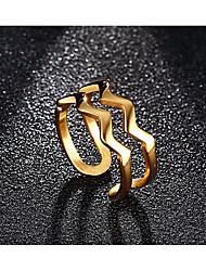 Ringe Alltag / Normal Schmuck Edelstahl / vergoldet Herren Ring 1 Stück,Eine Größe Rotgold