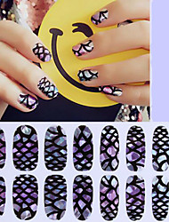16Pcs Dazzle Colour High Quality Glass Stickers Nail Patch Shell Stickers Environmental Protection Nail Sticker Decals Waterproof