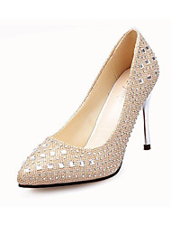 Homme-Décontracté-Rouge / Argent / Gris / Or-Talon Aiguille-Confort-Chaussures à Talons-Polyuréthane