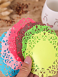 High Quality EVA Coaster Favors-10 Piece/Set Bohemian Theme Red / Pink / Chocolate / Green / Blue / Yellow