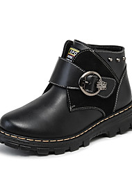 Boy's Boots Spring Fall Winter Other Leather Outdoor Casual Rivet Buckle Black Blue Brown Other