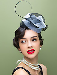 Women's Feather / Tulle Headpiece-Wedding / Special Occasion / Casual Fascinators / Hats 1 Piece