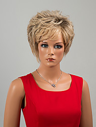Fashion Short Capless Wigs Natural Curly Human Hair Ombre Wigs
