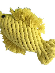 Cat / Dog Pet Toys Chew Toy / Teeth Cleaning Toy Rope / Woven / Fish Yellow Textile