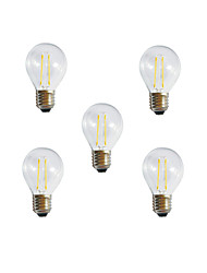 5pcs A60 2W E27 250LM 360 Degree Warm/Cool White Color Edison Filament Light LED Filament Lamp (AC85-265V)
