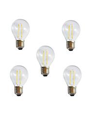 2W E26/E27 Круглые LED лампы A60(A19) 2 Высокомощный LED 250LM lm Тёплый белый Холодный белый Декоративная AC 85-265 V 5 шт.