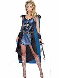 Soldier/Warrior Festival/Holiday Halloween Costumes Blue Print Dress Sleeves Halloween Christmas Carnival Children's Day New Year