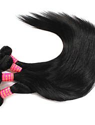 Lidské vlasy Vazby Brazilské vlasy Proste 6 měsíců 4 kusy Vazby na vlasy