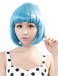 "Neitsi 100% Kanekalon Fiber 14""(35cm) 160g/pc Women's Girl's Cosplay Short Synthetic BOB Hair Wig Light Blue"