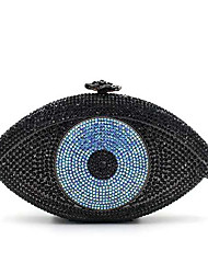 Women's Eye Design Luxuriant Crystal Clutch Evening Bags