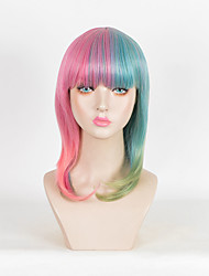 nova Melanie Martinez Culy moda peruca das mulheres omber cosplay verde perucas rosa sintéticos fio de alta temperatura