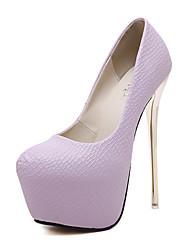 Черный Фиолетовый Белый-Женский-Для праздника-Дерматин-На шпильке На платформе-На платформе-Обувь на каблуках