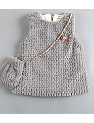 menina vai sair / / vestido diária sólida casual, inverno algodão misturado / queda
