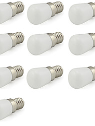 2W E14 Mini Led Bulb for Frigerator/ Tool Machine/Sewing Lamp 180 lm Cool White 220V-240V (10 Pieces)