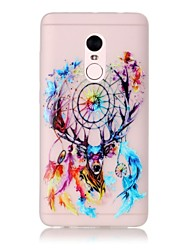 For Glow in the Dark / Translucent Case Back Cover Case The Deer Head Wind Chimes Soft TPU Xiaomi Redmi Note 4 Redmi Pro