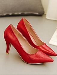 Damen-High Heels-Lässig-PUKomfort-Rot / Silber