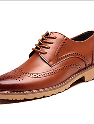 Men's Oxfords Spring / Fall / Winter Others Leather Outdoor / Office & Career / Casual Flat Heel Others Black / Brown / Coffee Others