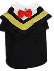 Chien Tee-shirt Vêtements pour Chien Décontracté / Quotidien Uni Noir