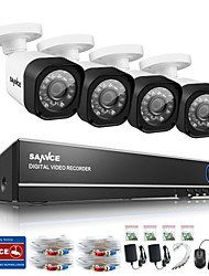 SANNCE 4CH 720P AHD DVR HDMI 4PCS 720P IR Night Vision Outdoor CCTV Camera Home Security System Surveillance Kits